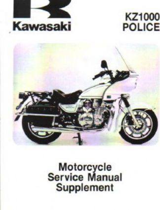 Used Official 1983 Kawasaki KZ1000P2 Police Factory Service Manual Supplement