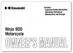 Official 2001 Kawasaki EX500-D8 Factory Owners Manual