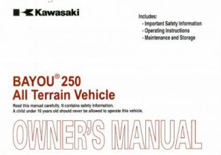 Kawasaki Js550 service Manual Vulcan s