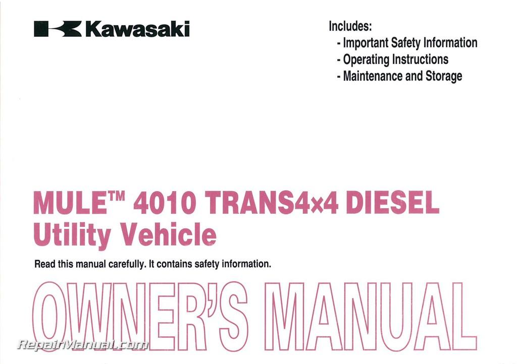 kawasaki mule 4010 parts manual