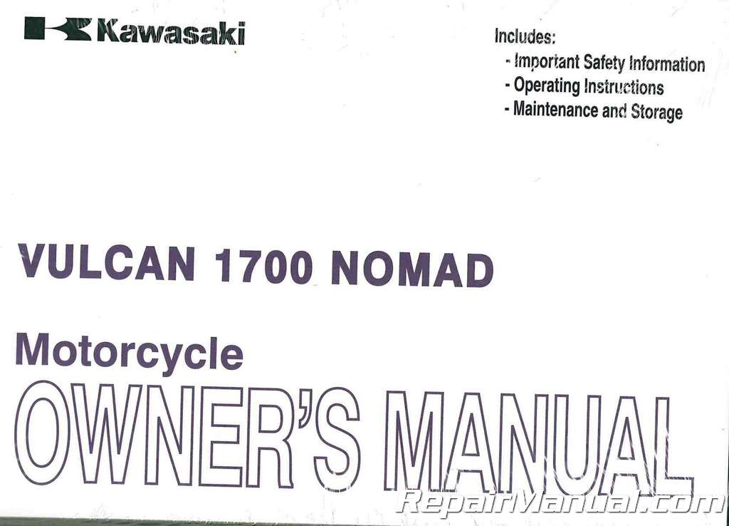 2011 kawasaki vn1700c vulcan nomad motorcycle owners manual for Nomad service