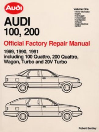 Official 1989-1991 Audi 100 200 Factory Repair Manual