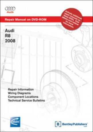 Audi R8 2008-2009 Repair Manual on DVD-ROM