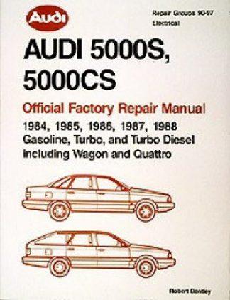 Audi 5000S 5000CS 1984-1988 Official Factory Repair Manual