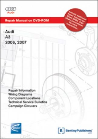 Audi A3 2006-2009 Repair Manual on DVD-ROM