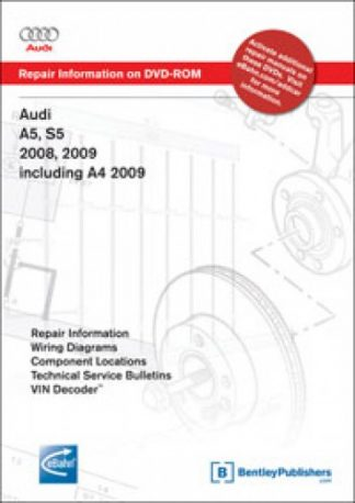 Audi A5 S5 2008-2009 A4 2009 Repair Information on DVD-ROM