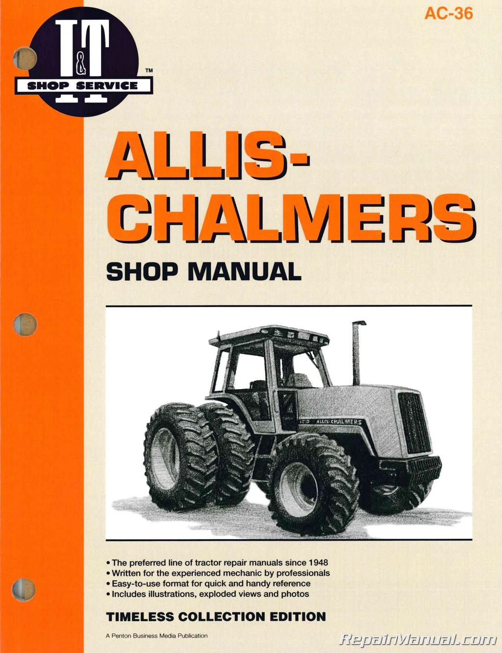 Allis Chalmers 8010 8030 8050 8070 Farm Tractor Service Manual