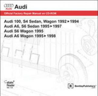 Audi 100 S4 Sedan Wagon1992-1994 A6 S6 Sedan 1995-1997 S6 Wagon 1995 A6 Wagon 1995-1998 Official Factory Repair Manual On CD-ROM