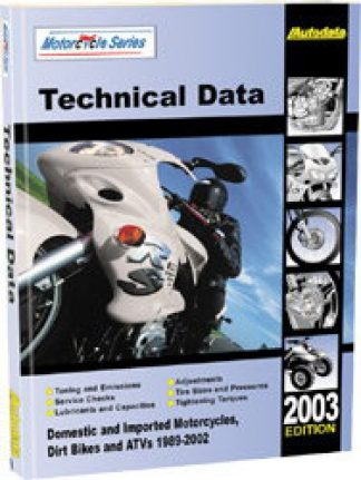 Motorcycle and ATV Technical Data Manual 2003 Edition