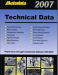 2007 Autodata Technical Data for Automobiles and Light Commercial Vehicles 1997-2007