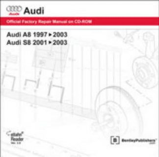 Audi A8 1997-2003 S8 2001-2003 Official Factory Repair Manual On DVD