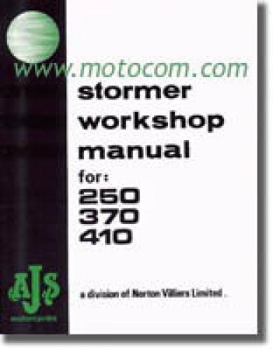 AJS Stormer 250 370 410cc Motorcycle Workshop Manual