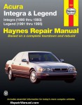 Acura Legend 1991 1995 Haynes Automobile Repair Manual