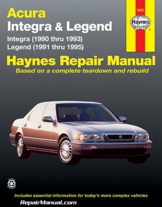 Acura Legend 1991 1995 Haynes Automobile Repair Manual