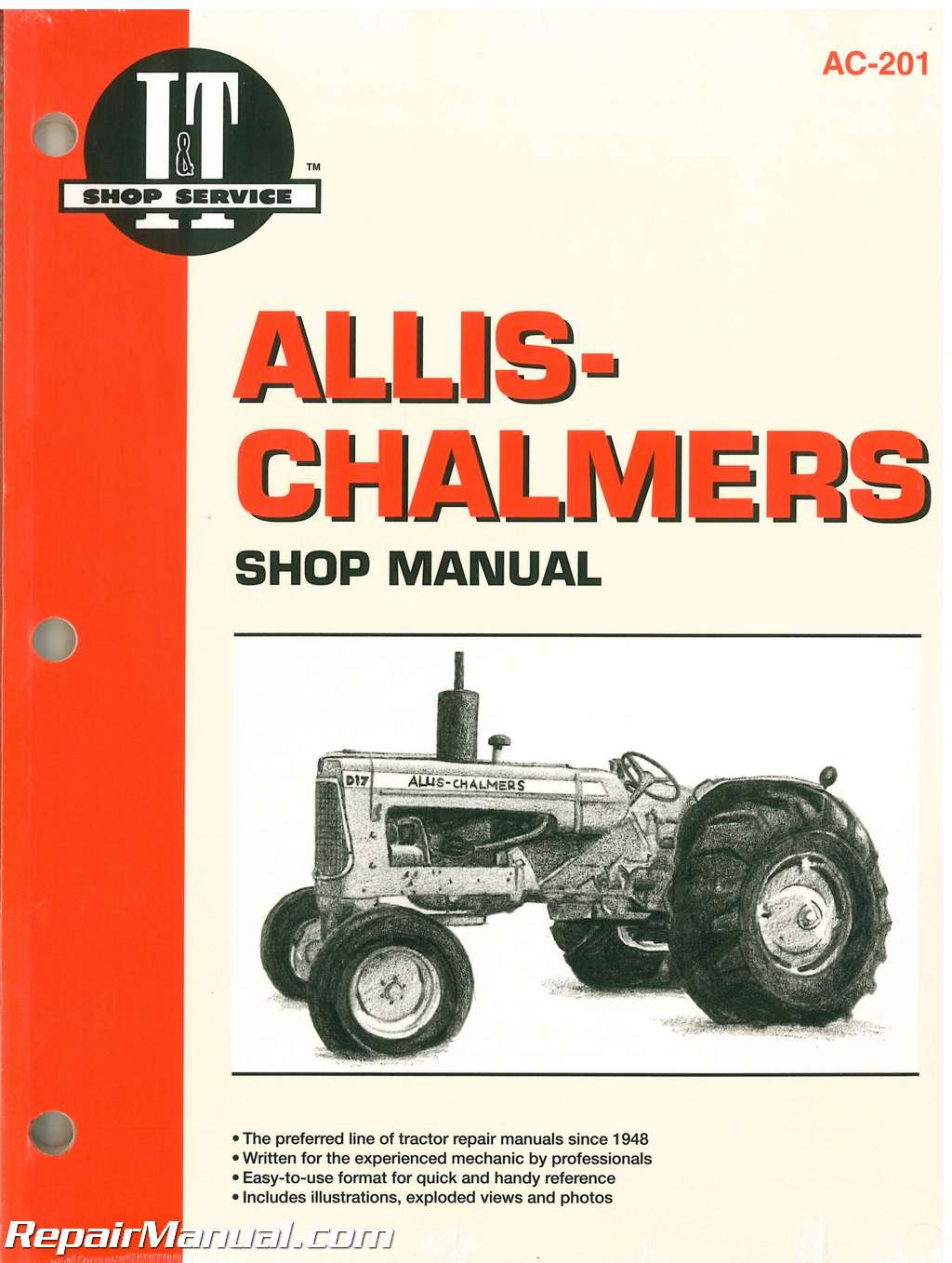 Allis Chalmers 160 170 175 D 10 D 10 Series III D 12 D 12 Series III D 14 D 15 D 15 Series II D 17 D 17 Series III and D 17 Series IV Farm Tractor Workshop Manual_001 allis chalmers tractor manuals repair manuals online allis chalmers 5040 wiring diagram at crackthecode.co