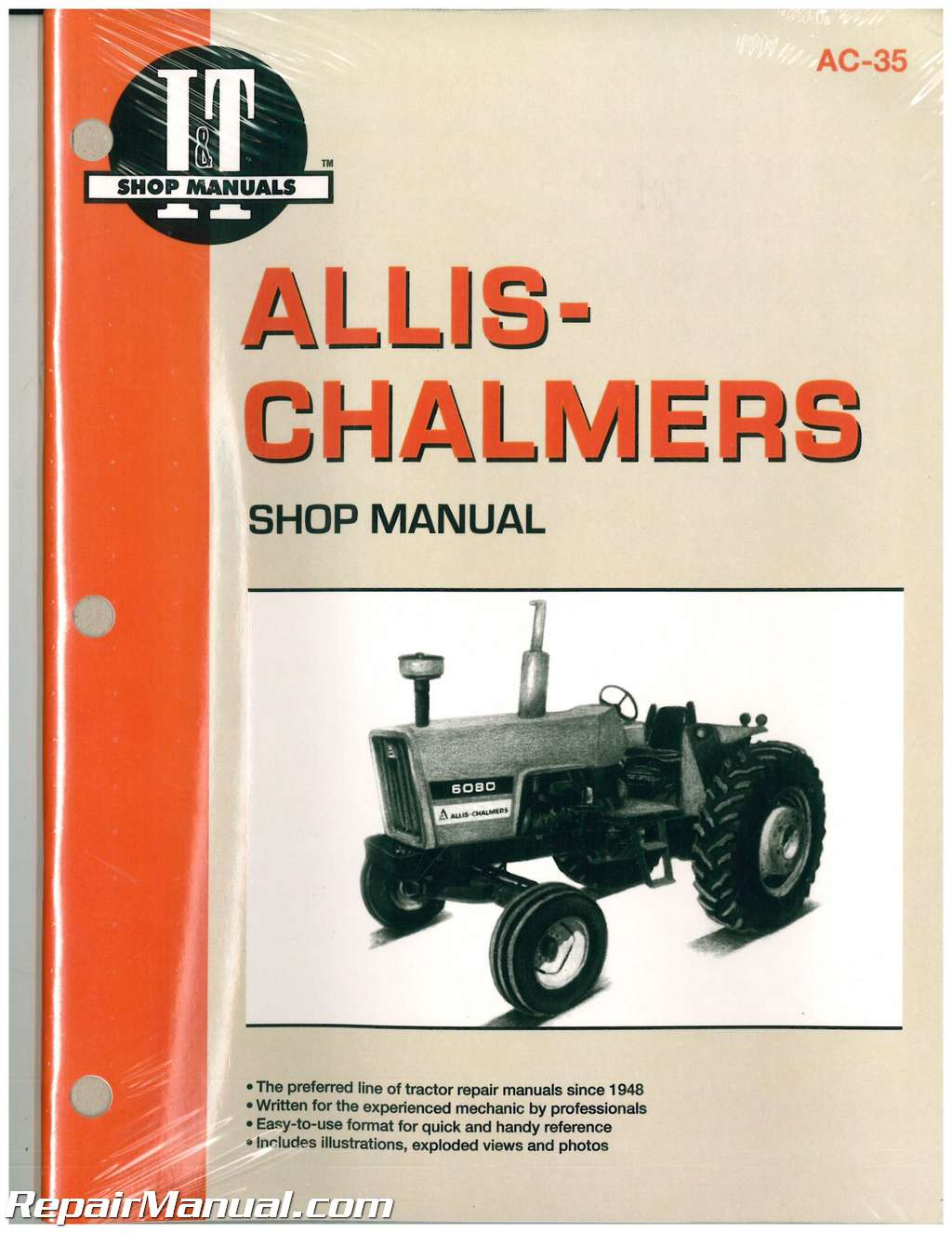 Repair Manuals For Tractors : Allis chalmers shop service farm tractor manual
