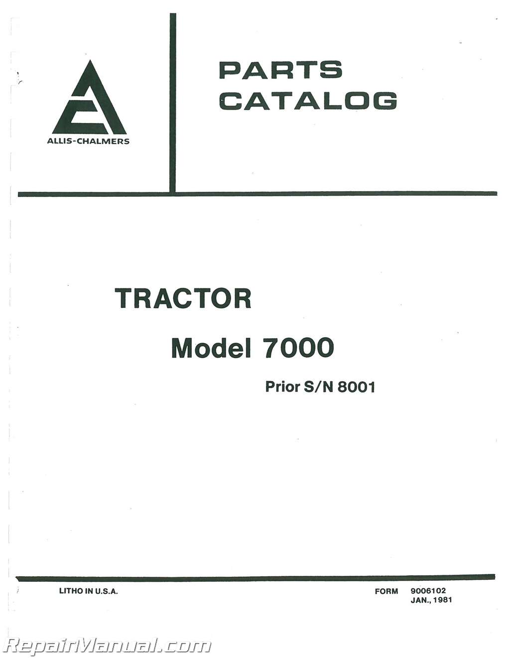 Allis Chalmers 7000 Wiring Diagram Blog About Diagrams Lull Diesel Parts Manual Ignition Switch
