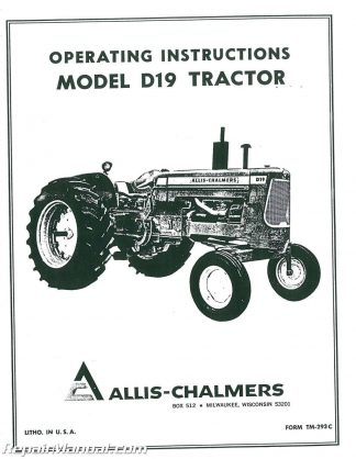 allis chalmers tractor manuals page 3 of 13 repair manuals online rh repairmanual com Allis Chalmers B Manual Online allis chalmers d19 operators manual