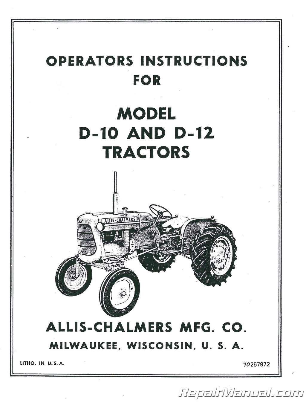 Allis Chalmers Wd Wiring Schematic - List of Wiring Diagrams on