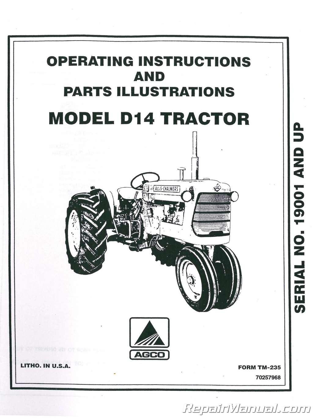 OEM Allis Chalmers Tractor Hood Latch 70228799 D10 D12 D14 D15 D17 D19 D21 ED40