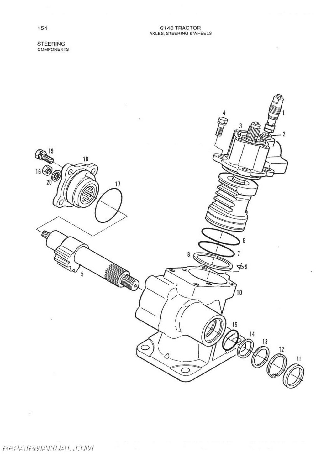 allis chalmers model 6140 2 4 wd parts manual