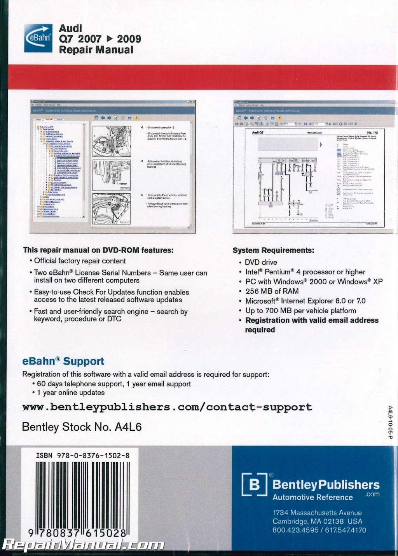 Audi q7 workshop manual online brake system page sample array audi q7 2007 2009 repair manual on dvd rom rh repairmanual fandeluxe Image collections