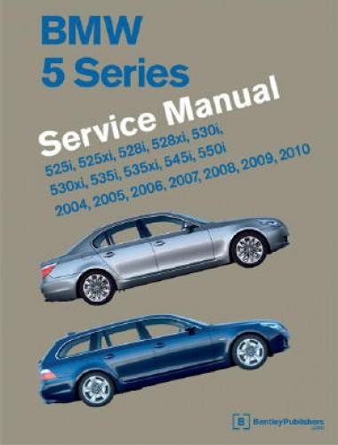bmw 5 series e60 e61 printed service manual 2004 2010. Black Bedroom Furniture Sets. Home Design Ideas