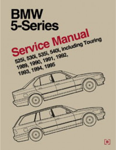 bmw 5 series e34 printed service manual 1989 1995. Black Bedroom Furniture Sets. Home Design Ideas