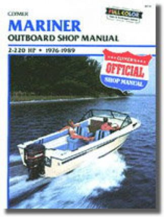 1976-1989 Mariner 2-220 hp Outboard Boat Engine Repair Manual