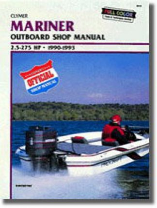 1990-1993 Mariner 25-275 hp Outboard Boat Engine Repair Manual