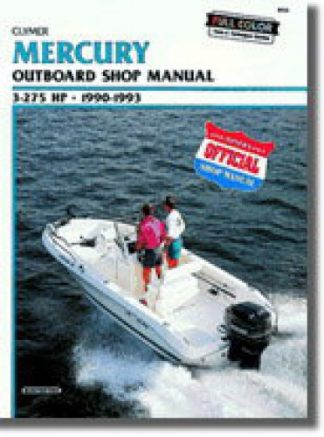 1990-1993 Mercury 3-275hp Outboard Boat Engine Repair Manual