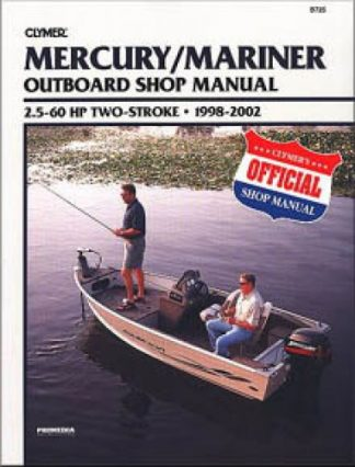 1998-2002 Mercury-Mariner 25hp - 60hp Outboard Boat Engine Repair Manual