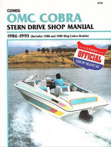 Clymer OMC Cobra 1986-1993 Stern Drive Boat Engine Repair Manual