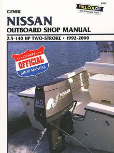 1992-2000 Nissan Outboard Repair Manual by Clymer