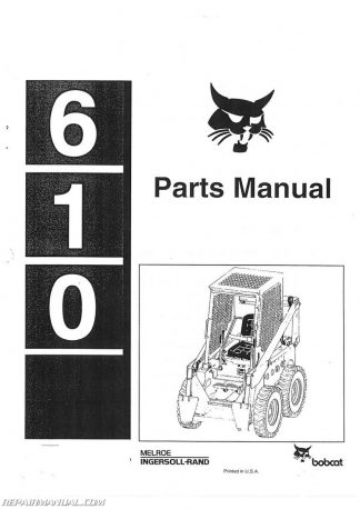 Bobcat 500 600 610 Loaders Operators Manual on