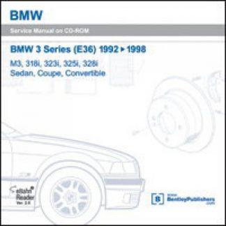 BMW 3 Series E36 1992-1998 Repair Manual on CD-ROM