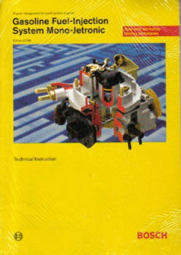 gasoline fuel injection system mono jetronic bosch technical manual rh repairmanual com Jetronic Industries KE-Jetronic Fuel Injection Bosch