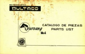 Bultaco Pursang MK4 Parts List