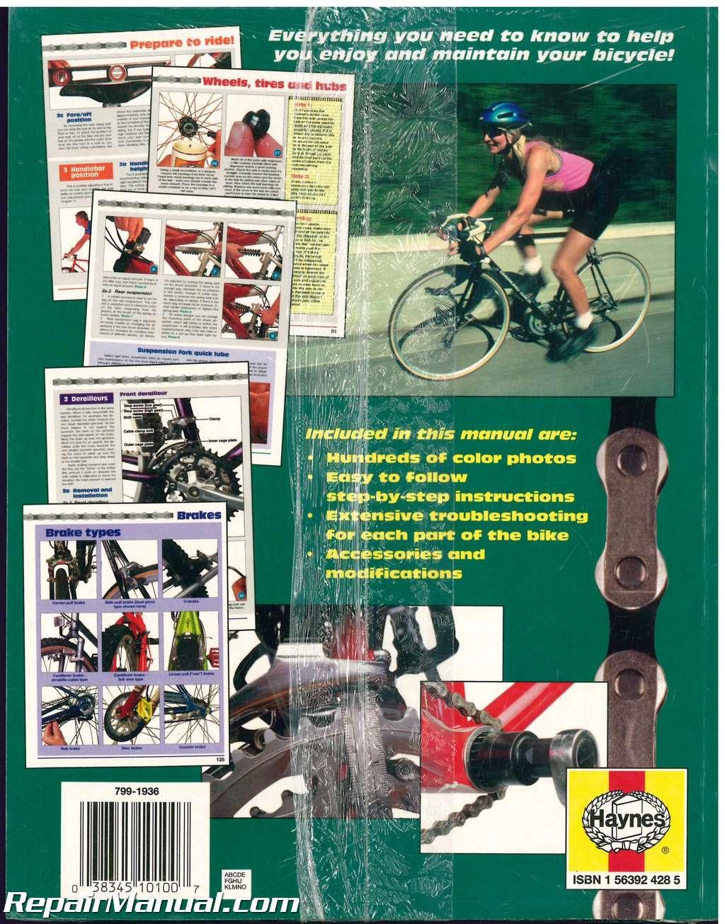 bicycle repair and maintenance service manual haynes rh repairmanual com Haynes Manual Monte Carlo Back haynes mountain biking skills manual