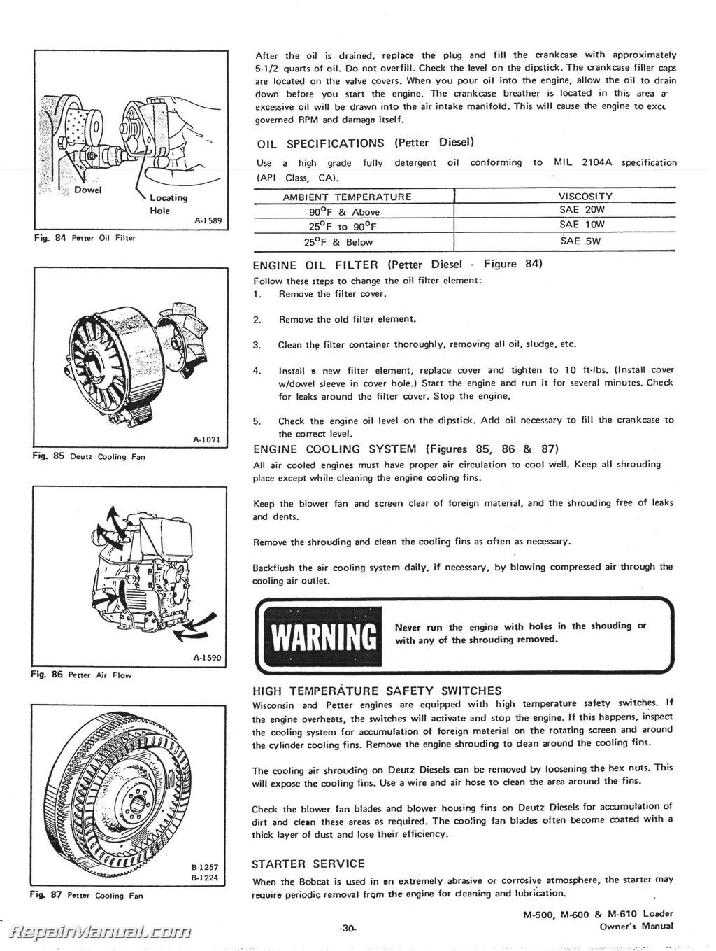 bobcat 500 600 610 loaders operators manual rh repairmanual com Standard Operating Manual User Manual