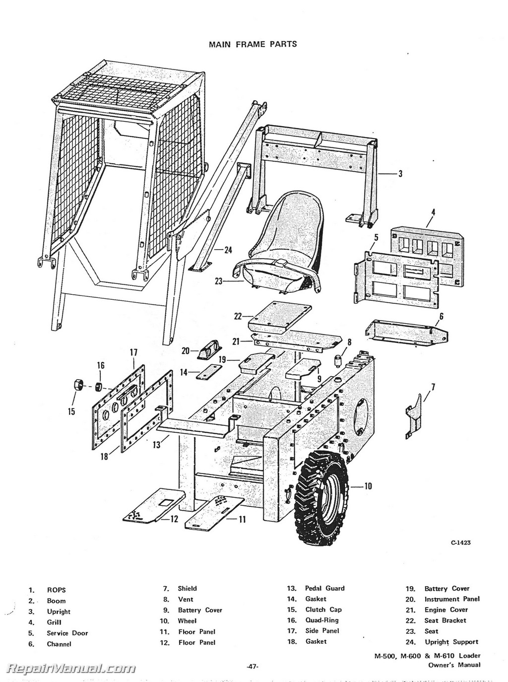 skid steer case 1845c parts diagram  images  auto fuse box