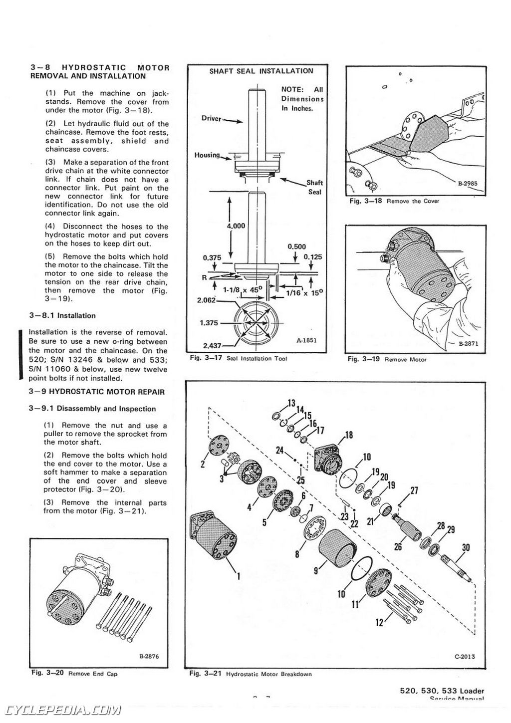 bobcat 520 530 533 skid steer service manual rh repairmanual com