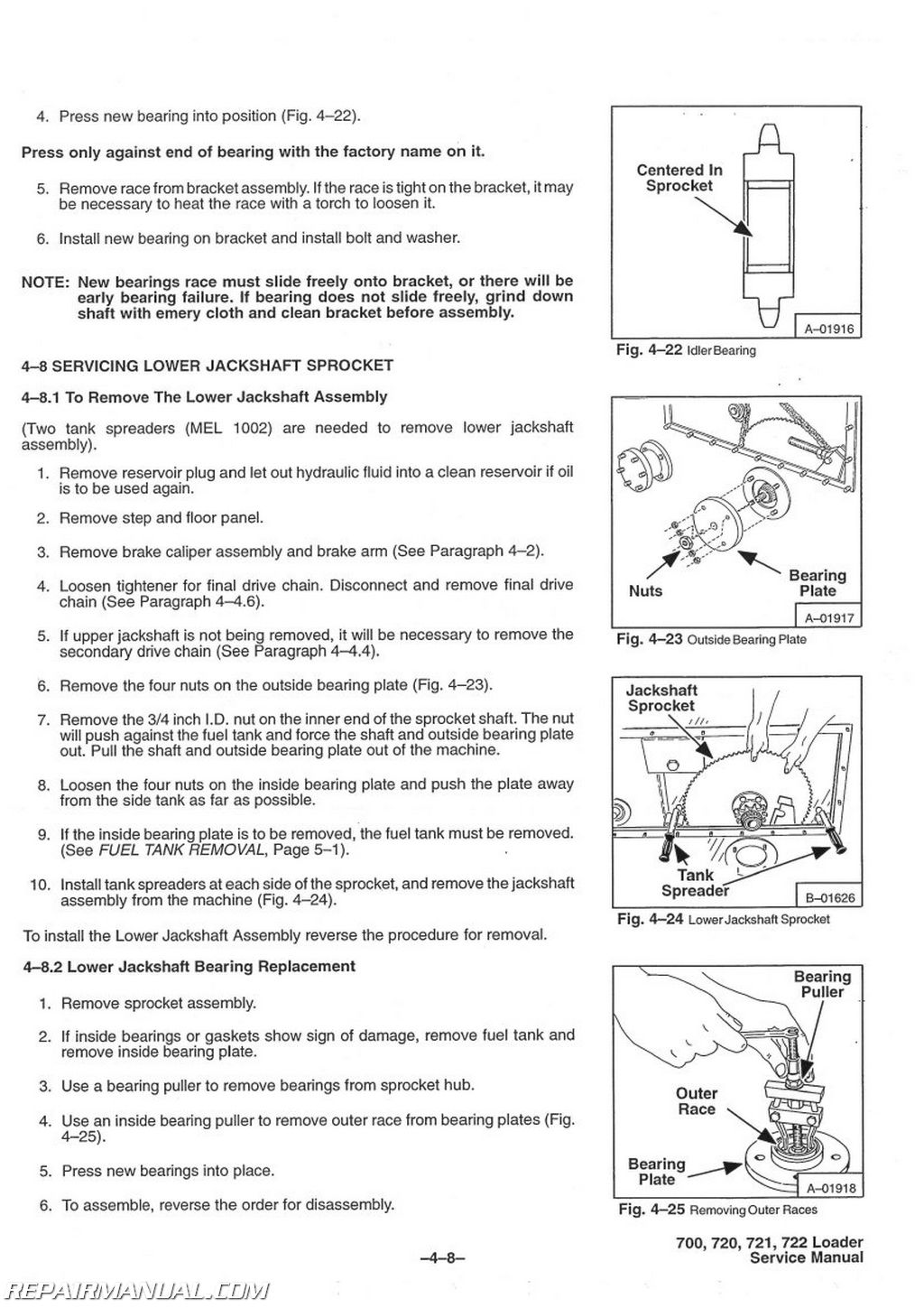 Bobcat 700 720 721 722 Skid Steer Service Manual Oil Tank Schematic