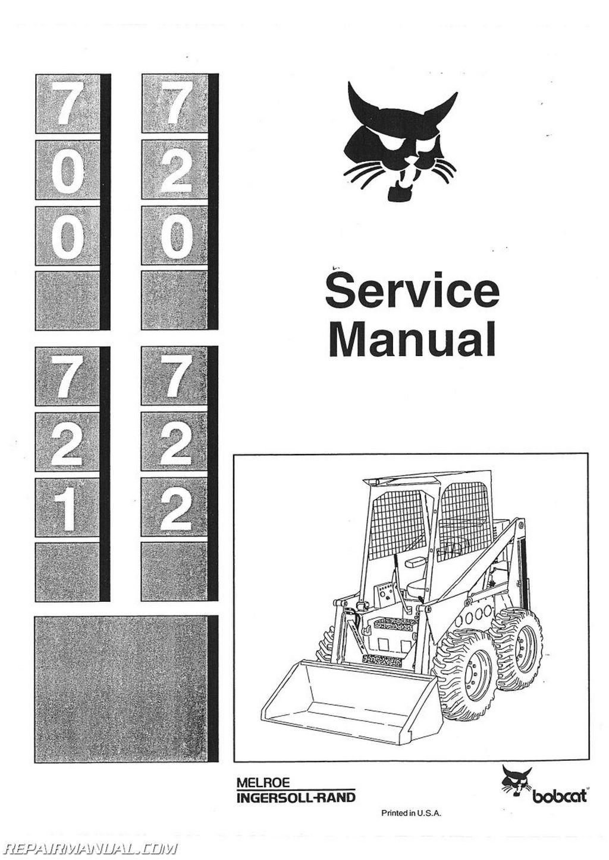Bobcat 700 720 721 722 Skid Steer Service Manual
