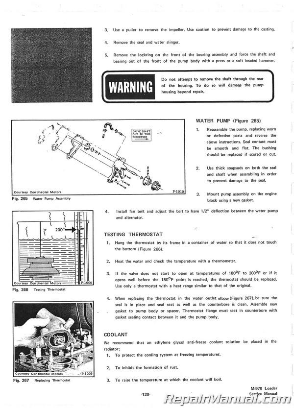 Bobcat M-970 Loader Service Manual