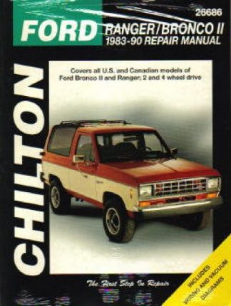1983-1990 Ford Ranger Bronco II Repair Manual by Chilton