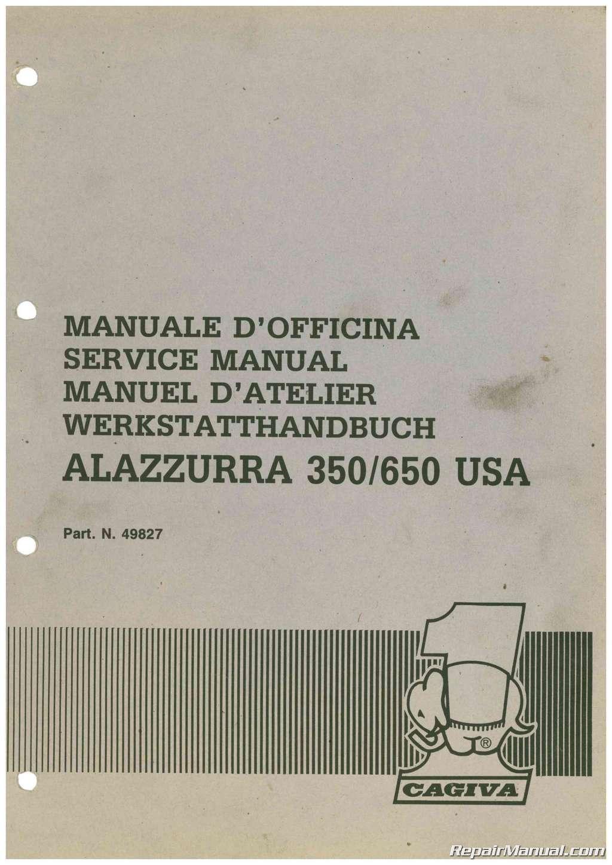1985 1986 1987 cagiva alazzurra 350 650 motorcycle service manual rh repairmanual com cagiva elefant 350 service manual Cagiva Motorcycles