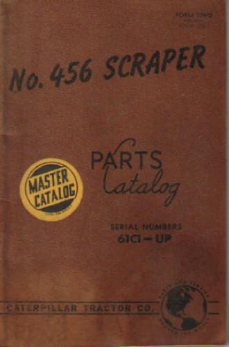 Used Caterpillar 456 Scraper Parts Manual