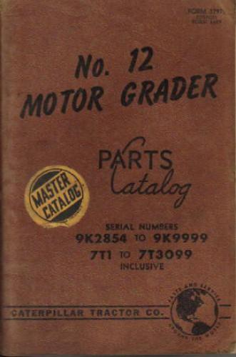 Caterpillar 12 Motor Grader Parts Manual