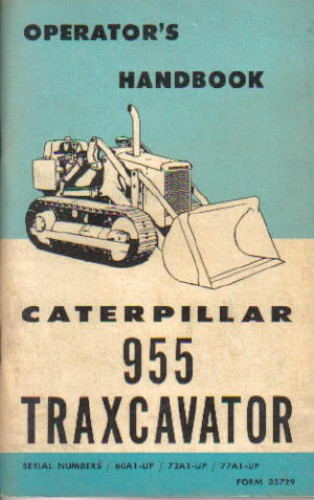 Caterpillar 955 Traxcavator Operators Manual